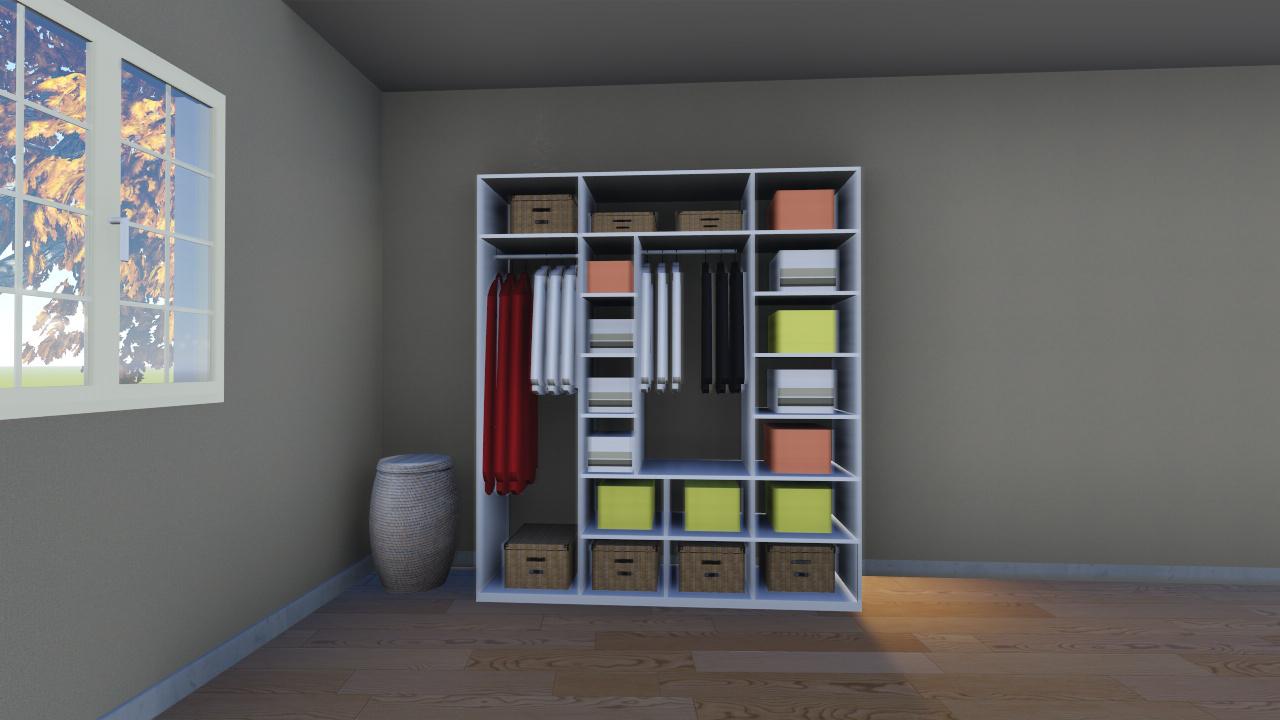 plan de dressing. Black Bedroom Furniture Sets. Home Design Ideas